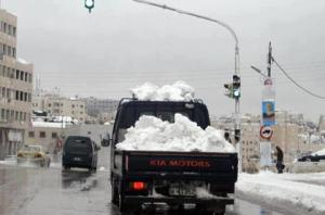snow in amman